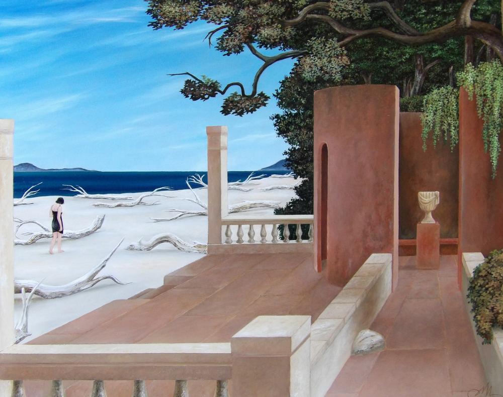 Tra la spiaggia e il giardino